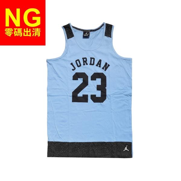 【SizeM-NG出清】Nike 背心 Jordan Tank 童款 喬丹 飛人 小朋友穿 23號 藍 黑 衣服有黃點【ACS】