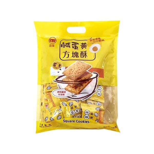 莊家 鹹蛋黃方塊酥230g(大包裝)【小三美日】