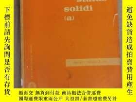 二手書博民逛書店physica罕見status solidi (a) volume 5 number 2 1971 (P2524)