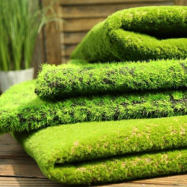仿真青苔草皮人工草坪塑料假苔蘚植物牆面裝飾綠植牆櫥窗造景創意 夏季特惠