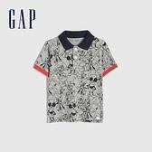 Gap男幼童 Gap x Disney 迪士尼系列聯名短袖POLO衫 669935-淺麻灰