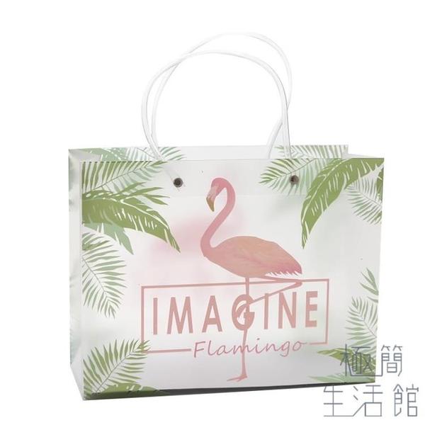 透明禮品袋小清新禮物袋手提袋包裝袋塑料服裝袋【極簡生活】
