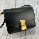 BRAND楓月 CELINE CLASSIC BOX SAMLL 189183 黑色 豆腐包 盒子包 單肩包 斜背包