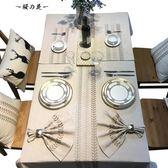MHDD設計 刺繡餐墊 餐巾餐桌墊 隔熱墊 西餐墊盤墊碗墊防滑小蓋巾【櫻花本鋪】