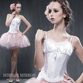 馬甲 白施華洛淑女外穿束腹型塑身馬甲-束身、表演服_蜜桃洋房