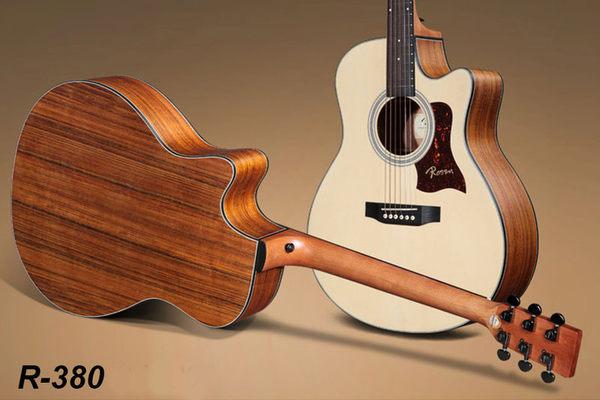 小叮噹的店 - 全新ROSEN R-380 40吋 木吉他 指彈吉他 Fingerstyle A級西堤卡雲杉