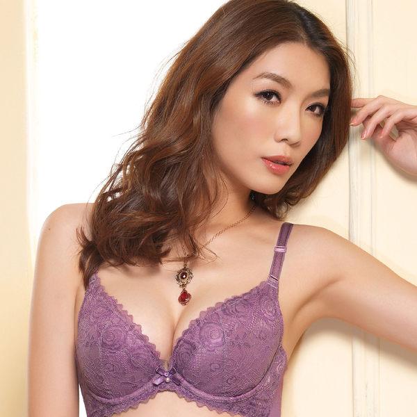EASY SHOP-花意開運 B-D罩內衣(人氣紫)
