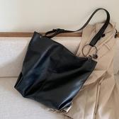 托特包網紅側背大包包女2020潮韓版百搭大容量軟面斜背包時尚托特包春季新品