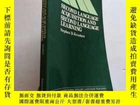 二手書博民逛書店Second罕見Language Acquisition and Second Language Learning