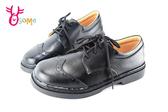 全真皮學生皮鞋 牛皮 國高中生 綁帶學生皮鞋 C4955#黑色◆OSOME奧森童鞋