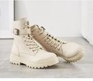 馬丁靴女鞋2020年新款鞋子網紅爆款2021春季中筒顯瘦瘦短靴子一米陽光