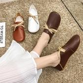 瑪麗珍鞋 兩穿娃娃鞋新款秋季森系圓頭鞋平底休閒文藝范學生鞋女單鞋潮 瑪麗蘇