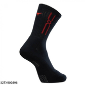 Mizuno Socks [32TX900896] 男襪 運動 慢跑 路跑 休閒 厚底 短筒襪 黑紅  25-27 cm