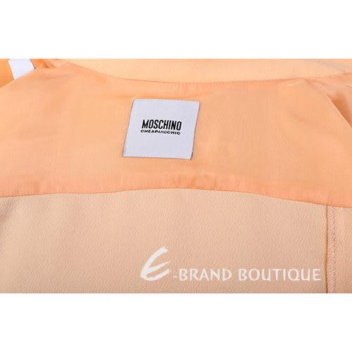 MOSCHINO 粉橘色 口袋 排釦設計 外套 1310680-39