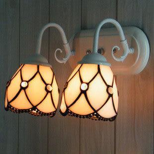 設計師美術精品館歐式帝凡尼壁燈 兩頭鏡前燈 臥室客房床頭燈 地中海簡約時尚壁燈