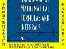 二手書博民逛書店Handbook罕見Of Mathematical Formulas And Integrals, Fourth