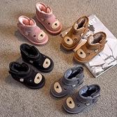 兒童靴子 2021冬季新款兒童雪地靴保暖鞋女童加厚短靴子男童軟底大棉鞋【快速出貨八折鉅惠】