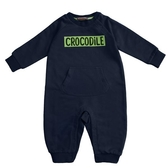 『小鱷魚童裝』童趣LOGO連身裝(0號~01號)558534