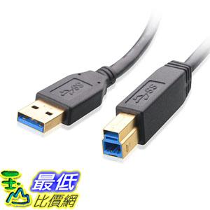 [美國直購] Cable Matters SuperSpeed USB 3.0 Type A to B Cable in Black 6 Feet 傳輸線_a12a