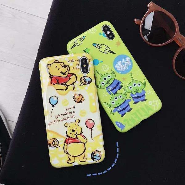 【SZ25】iphone xs手機殼 小熊維尼三眼怪全包 iphone XS max手機殼 iphone 8 plus手機殼 iphone xr手機殼