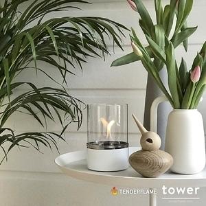 Tenderflame tower 安全燃料氣氛情境燈簡約白