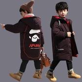 兒童棉衣 男童冬裝棉衣2019新款羽絨棉服6中童7兒童裝8中長9歲加厚洋氣外套