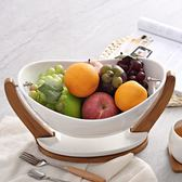 創意陶瓷水果籃現代客廳果盤年貨糖果盤干果盤送禮家用果盆可瀝水