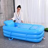 汗蒸箱220v成人桑拿浴箱家庭汗蒸房折疊泡澡浴缸躺式兩用YXS多色小屋