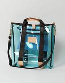MSPC(master-piece) LIQUID No.02681 [夏日皮革拼接時尚透明側背包-藍色]