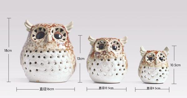 [協貿國際]貓頭鷹陶瓷工藝品單組價(3個1組)