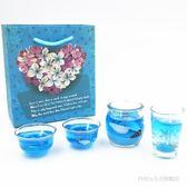 海洋系列套餐 水晶果凍香薰蠟燭表白玻璃杯 BS20718『科炫3C』