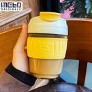 咖啡杯 iMeBoBo玻璃水杯女帶吸管簡約可愛便攜泡茶大容量咖啡杯子ing風男 晶彩