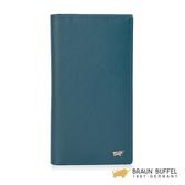 【BRAUN BUFFEL】HOMME-M系列17卡長夾 -藍綠 BF306-301-TEA