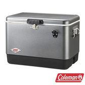 Coleman 優雅銀經典鋼甲冰箱 51L CM-03740 / 保冷 保溫 冰桶 戶外 露營 登山