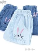 女童牛仔褲春夏薄純棉兒童防蚊褲子寬鬆燈籠褲小女孩童裝 ◣歐韓時代◥