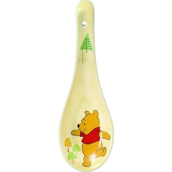 小禮堂 迪士尼 小熊維尼 陶瓷湯匙 (黃樹木款) 4942423-24419