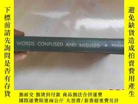 二手書博民逛書店WORDS罕見CONFUSED AND MISUSED(誤用和混