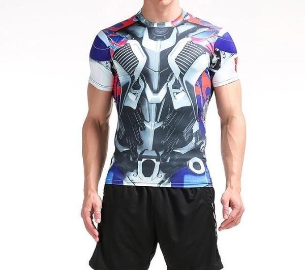 FINDSENSE MD 日系 時尚 男 高彈力 緊身運動短T 訓練服 跑步 健