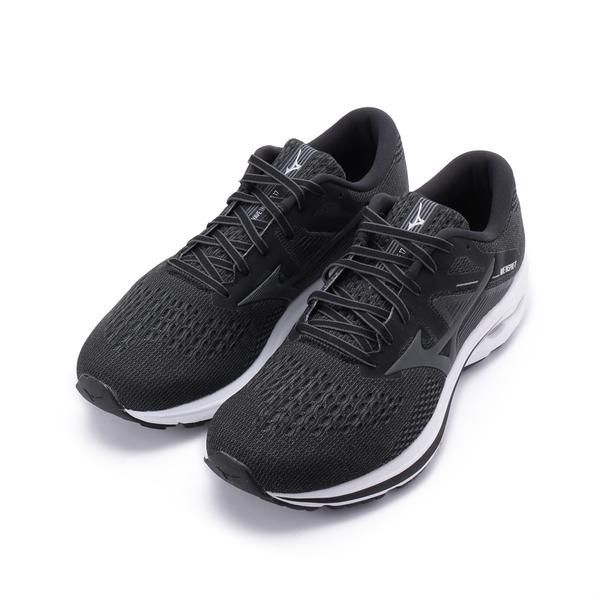 MIZUNO WAVE INSPIRE 17 寬楦慢跑鞋 黑/深灰 J1GC214534 男鞋