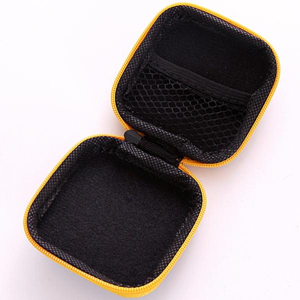 方形 手機充電器數據線收納包 耳機收納整理包 迷你便攜 防壓收納盒 硬殼鑰匙包【SV6589】BO雜貨
