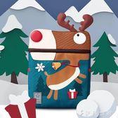 小書包 幼兒園小學兒童減壓卡通帆布雙肩背包聖誕小鹿背包 伊鞋本鋪