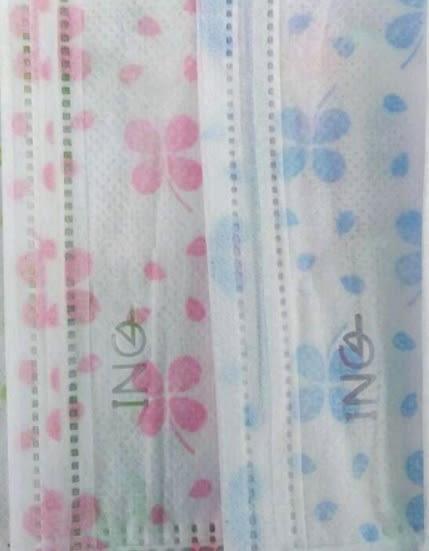 埃恩居 醫用口罩   H3376型-(兒童口罩繽紛粉紅色 5片/包.10包/盒)