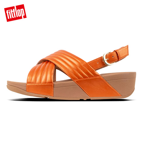 熱銷5折!【FitFlop】LULU PADDED BACK-STRAP SANDALS鋪棉造型後帶涼鞋-女(橙色)