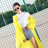 戶外韓國時尚雨衣男女成人學生長款網紅雨衣非一次性加厚透明雨衣  居家物語