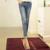 LIYO理優刷色破損感設計牛仔褲E711008