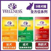 *WANG*Wellness全方位系列《幼犬|成犬經典|熟齡犬食譜》5磅/包 狗飼料