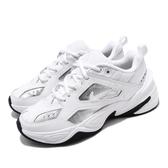 Nike 休閒鞋 Wmns M2K Tekno ESS 白 銀 女鞋 老爹鞋 運動鞋【PUMP306】 CJ9583-100