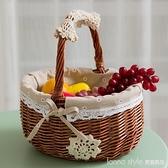 野餐籃水果籃藤編購物籃收納籃雞蛋籃編織籃小籃子竹籃手提籃菜藍 Lanna YTL