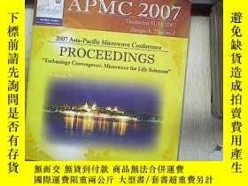 二手書博民逛書店2007罕見ASIA-PACIFIC MICROWAVE CONFERENCE PROCEEDINGS VOLUM