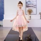 女童禮服 女童裝旗袍禮服洋氣魚尾公主兒童夏裝小女孩夏季拖尾洋裝子-Ballet朵朵